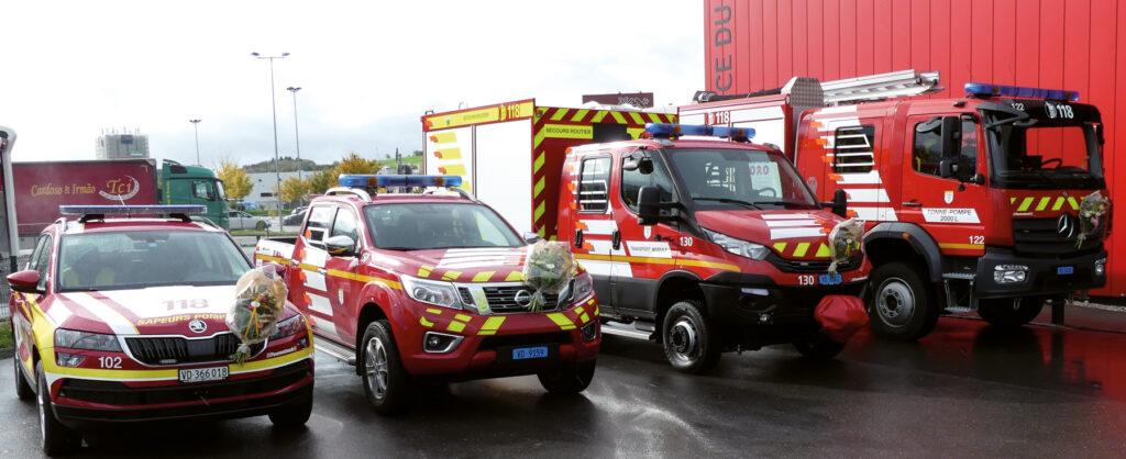 Les nouveaux véhicules du SDISPO. (Photo Ali-Georges Maire)