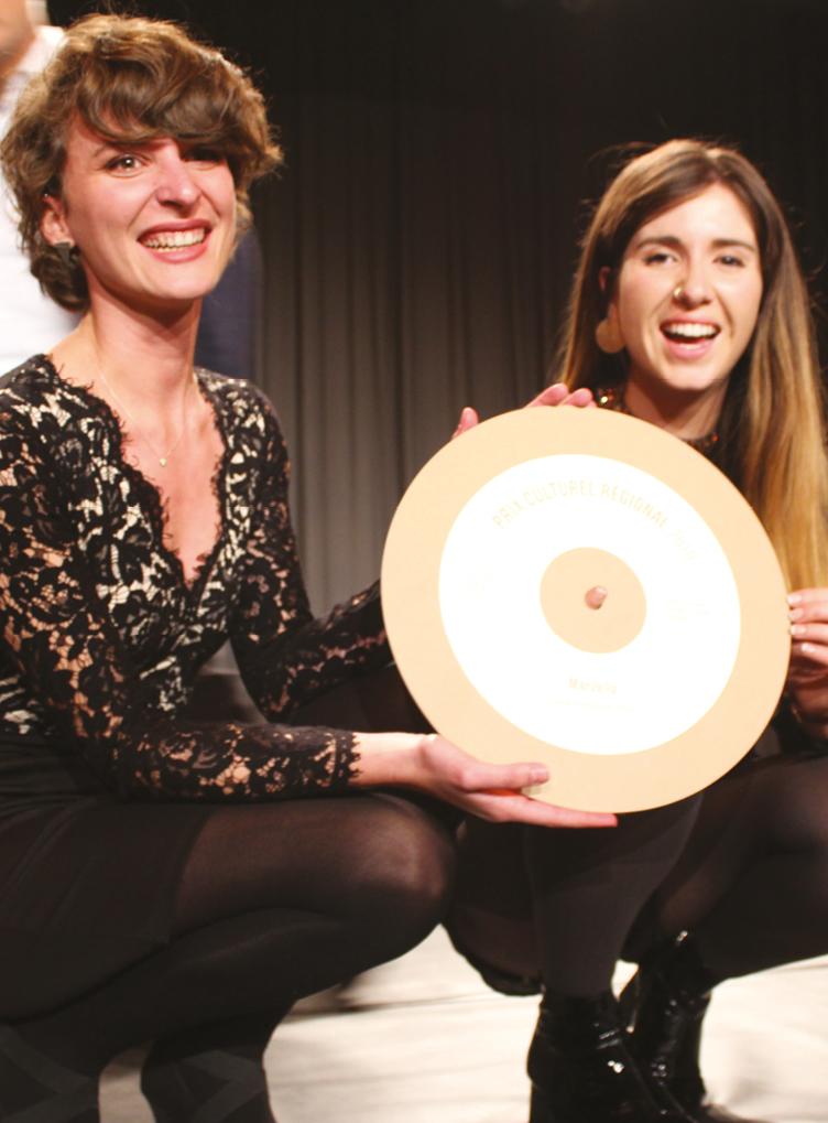 Aula de Chantemerle : Prix culturel régional 2019 au duo Marzella!